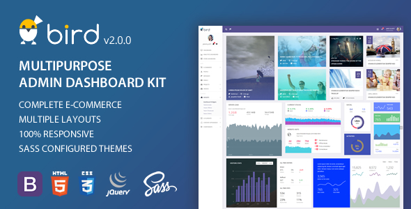 BIRD (Pro) - Multipurpose Responsive Admin Dashboard HTML5 Web App Kit with Bootstrap 4