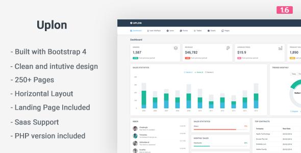 Uplon - Responsive Bootstrap 4 Web App Kit - Admin Templates Site Templates