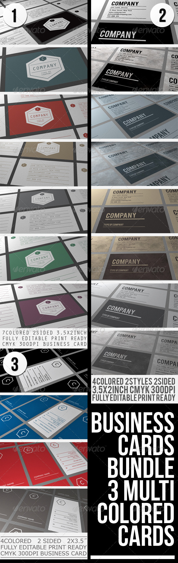 BUSINESS CARDS BUNDLE - Corporate Business Cards