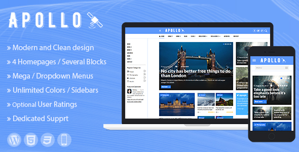 ThemeForest Apollo WordPress News and Magazine Theme 20587967