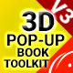 3D Pop-Up Book Toolkit featuring Mister Cake | Toolkit & Story Construction Set - VideoHive Item for Sale