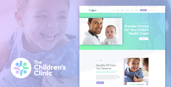 The Children's Clinic WordPress Theme - Health & Beauty Retail
