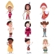Kids in National Costumes of Different Countries