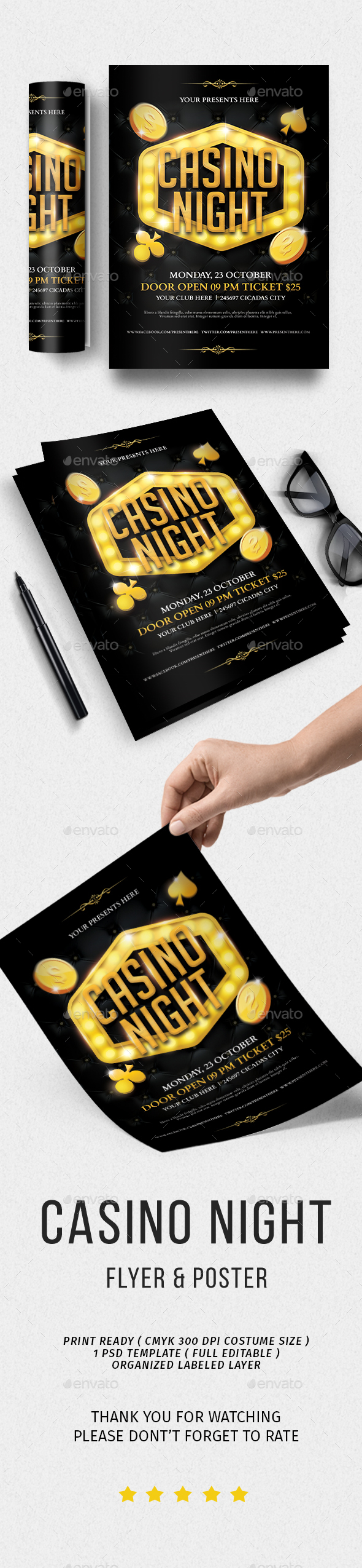 GraphicRiver Casino Night Flyer 20588396