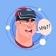 Man What Male Emoji Wearing 3d Virtual Glasses