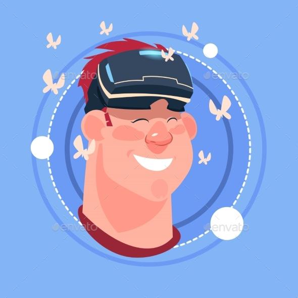 Man Happy Smiling Male Emoji Wearing 3d Virtual - People Characters