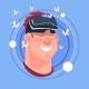 Man Happy Smiling Male Emoji Wearing 3d Virtual