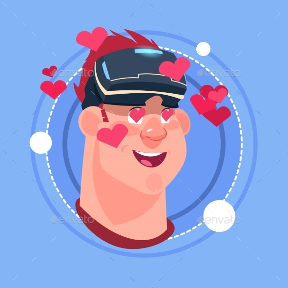 GraphicRiver Man Happy Smiling Male Emoji Wearing 3D Virtual 20588541