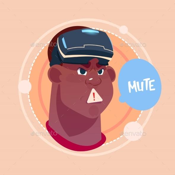 GraphicRiver Man Emoji Mute 20588577