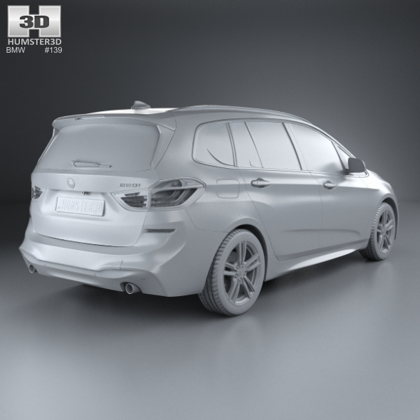 Bmw 6 Series F13 Coupe M Sport Package 2015 3d Model: BMW 2 Series Gran Tourer (F46) M Sport Package 2015 By