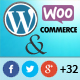 All in One Wordpress Social Share Plugin with Woocommerce product share support.