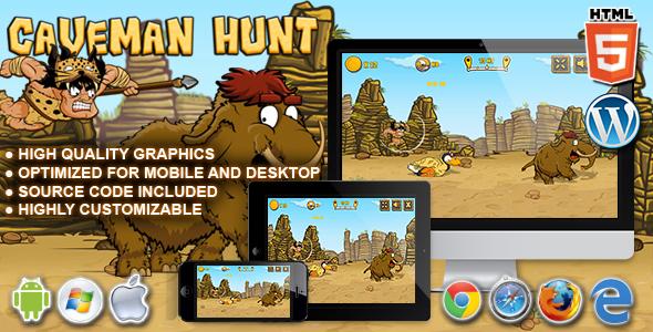 CodeCanyon Caveman Hunt HTML5 Launch Game 20588798