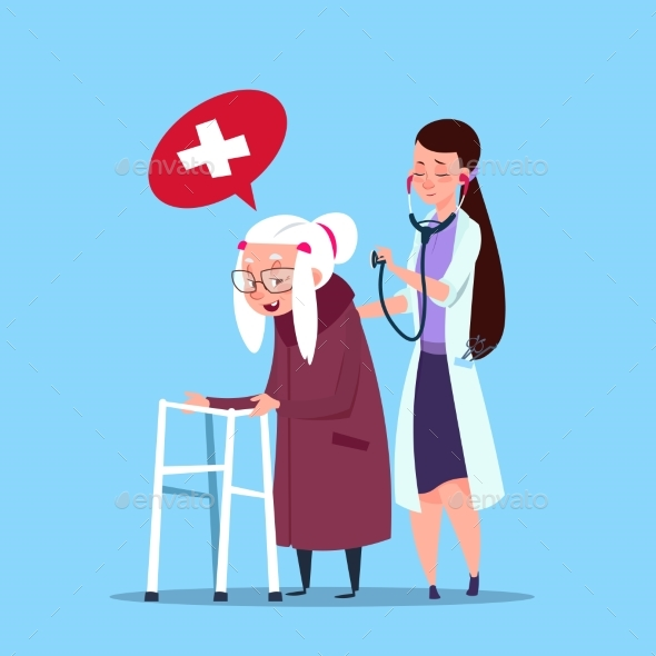 GraphicRiver Doctor Taking Care Of Senior Woman 20588809
