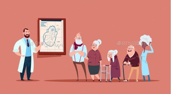 GraphicRiver Group of Senior People on Consultation with Doctor 20588813