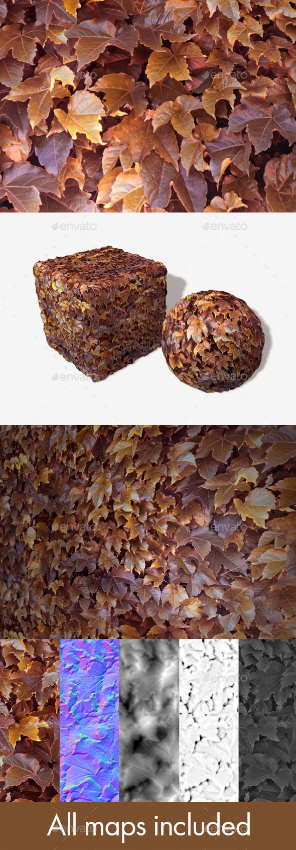 3DOcean Purple Orange Autumn Leaves Seamless Texture 20588889