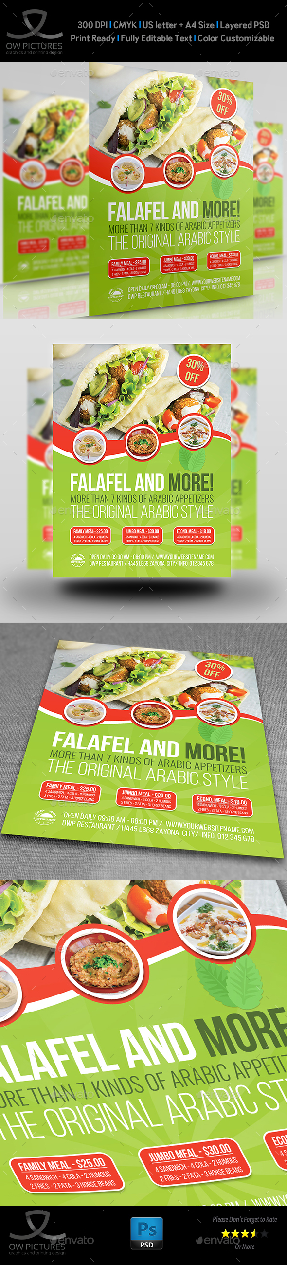 Restaurant Flyer Template Vol.15 - Restaurant Flyers