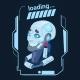 Modern Robot Loading Futuristic Artificial