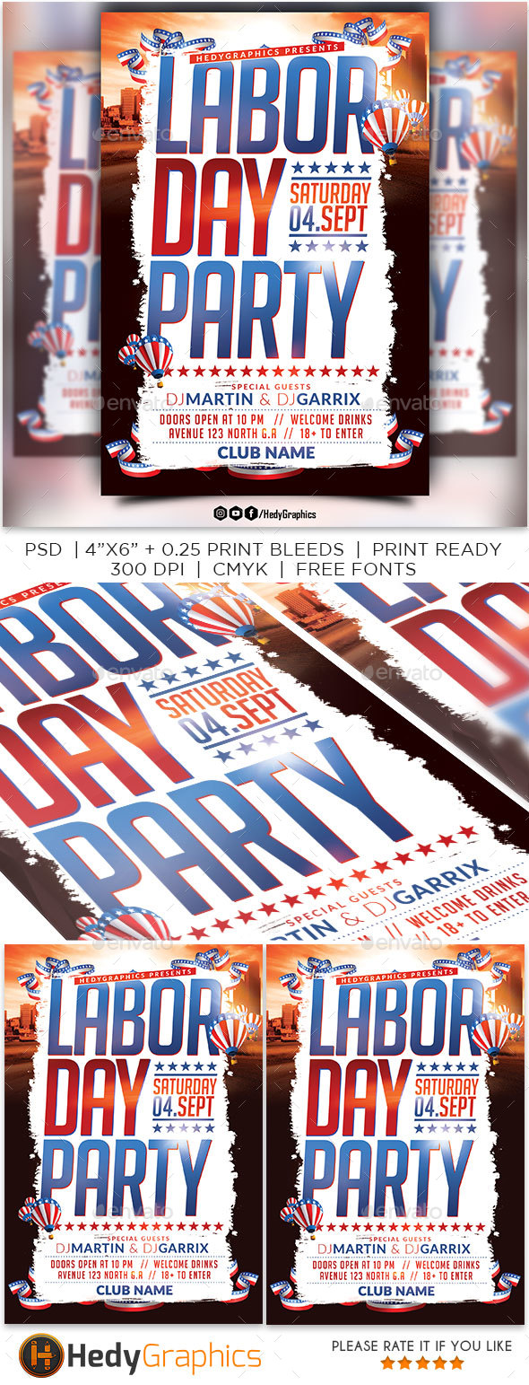 Labor Day Party Flyer - Events Flyers