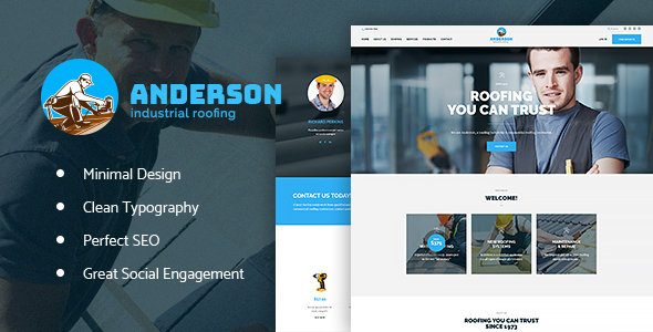 ThemeForest Anderson Industrial Roofing Services 20589274