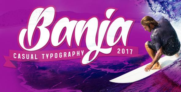 Banja - Script Fonts