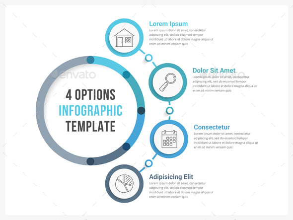 GraphicRiver Four Steps Infographics 20589693