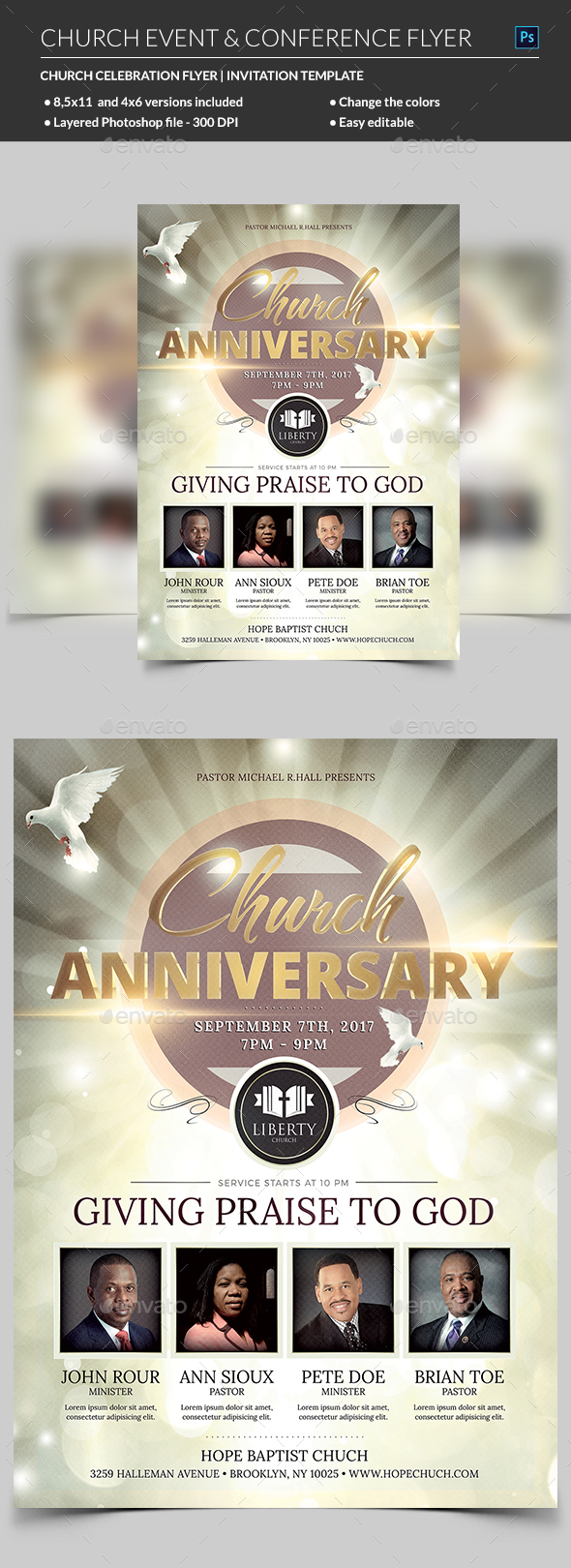 GraphicRiver Church Anniversary Flyer 20589976