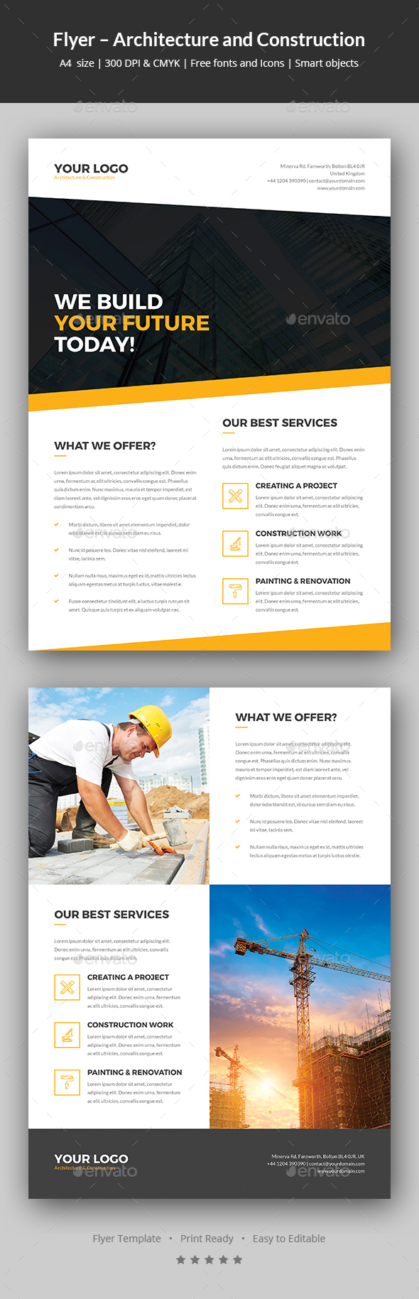 Flyer – Architecture and Construction - Corporate Flyers