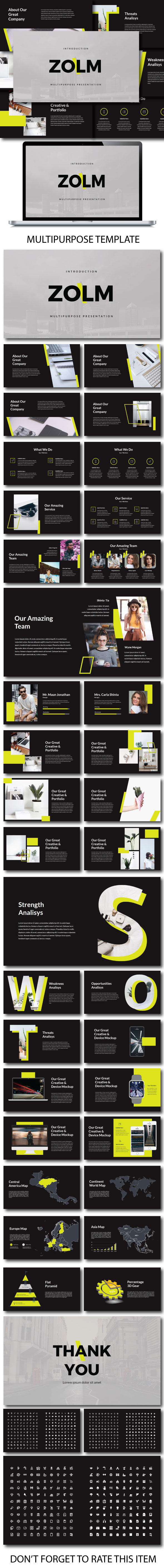 Zolm Multipurpose Powerpoint - PowerPoint Templates Presentation Templates