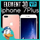 Apple iPhone 7 Plus for Element 3D - 3DOcean Item for Sale