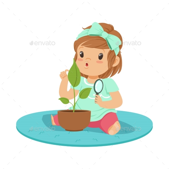 Girl Sitting on the Floor - Flowers & Plants Nature