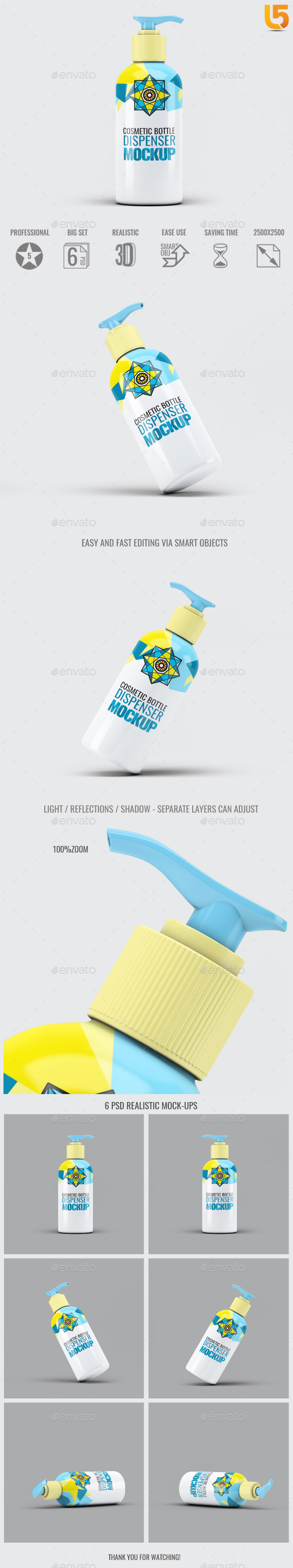 GraphicRiver Cosmetic Bottle Dispenser Mock-Up V.4 20590295