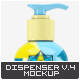 Cosmetic Bottle Dispenser Mock-Up V.4