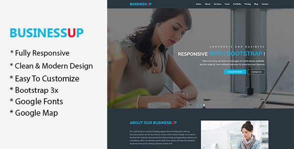 Businessup - Business & Corporate HTML5 Template - Site Templates