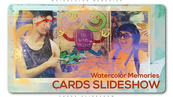 Watercolor Memories Cards Slideshow