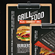 Grill BBQ Single Page Food Menu - A4 and US Letter