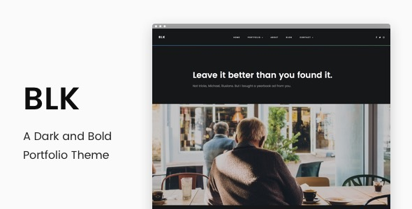 BLK - A Dark and Bold Portfolio Theme by rodbor [20387152]