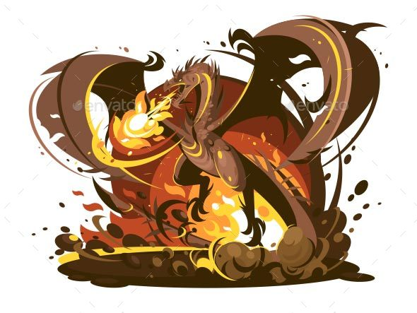 Fire Breathing Dragon Character - Monsters Characters