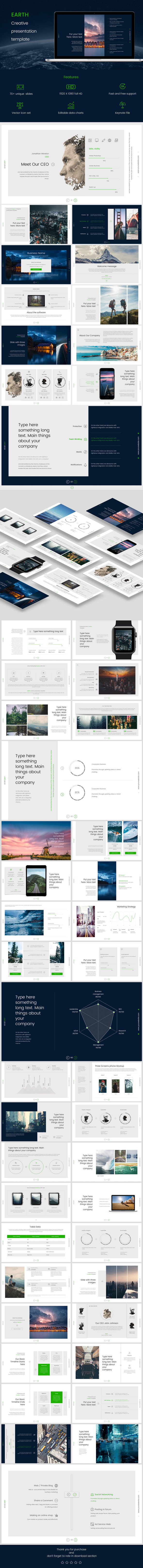 Earth Keynote - Keynote Templates Presentation Templates