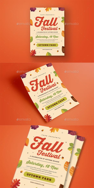 Fall Festival Flyer - Flyers Print Templates