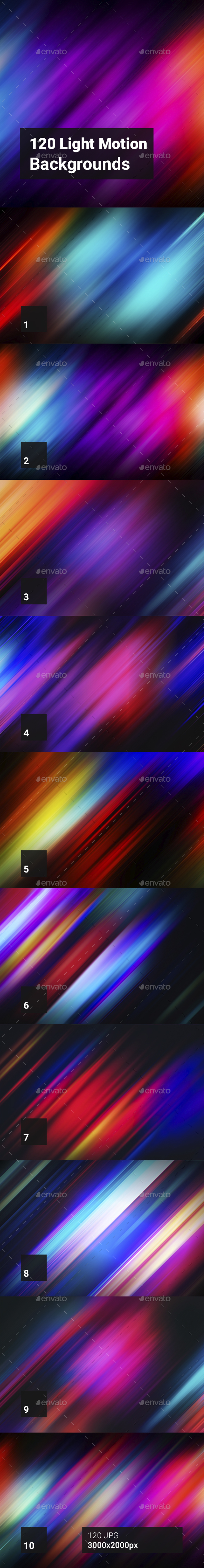 120 Light Motion Backgrounds - Abstract Backgrounds