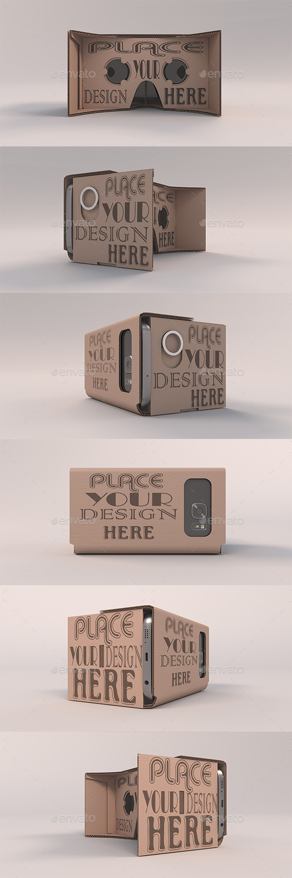 GraphicRiver Cardboard Headset Orbit Mockups 20554580