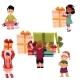 Kids, Children and Christmas Birthday Presents Set