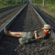 Tourist Relaxing on Rails