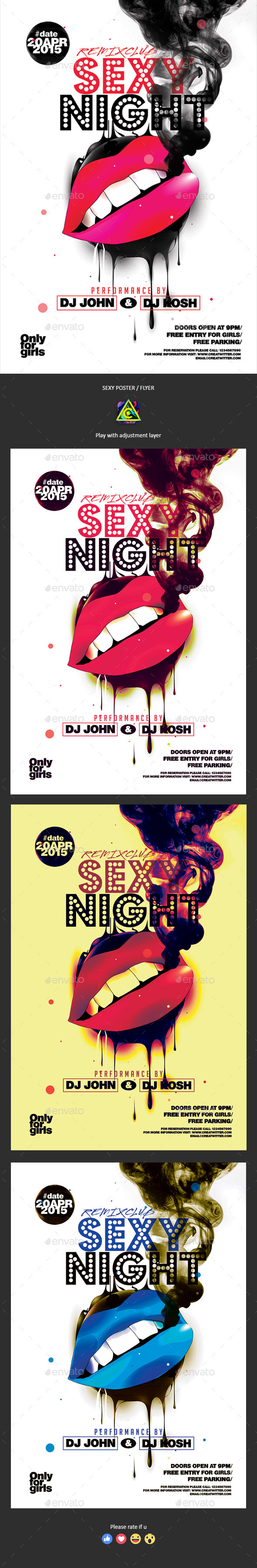 Sexy Night Poster / Flyer - Clubs & Parties Events