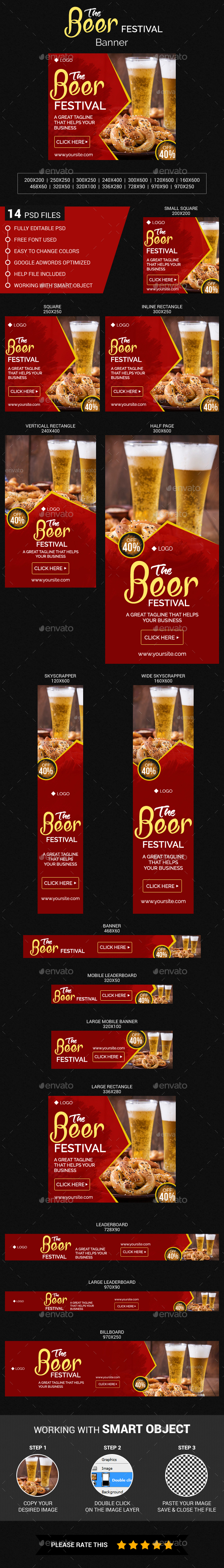 Beer Festival Banner - Banners & Ads Web Elements