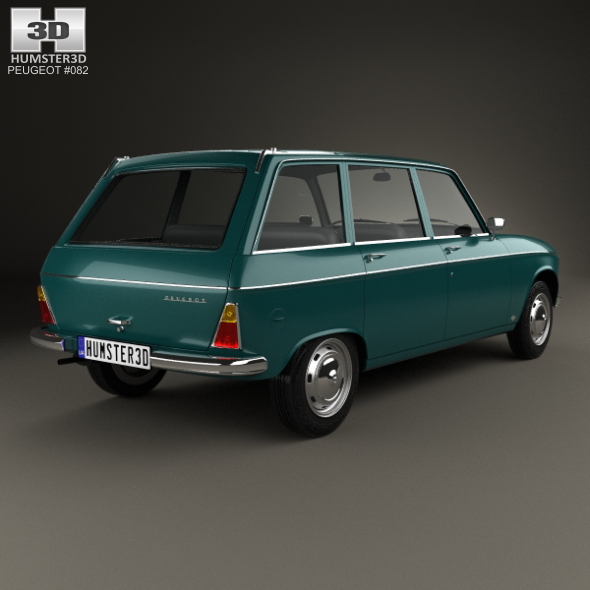 Peugeot 204 Break 1966 by humster3d   3DOcean  Brak