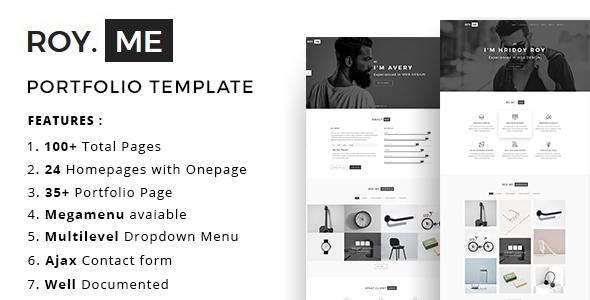 Royme - Portfolio Template - Portfolio Creative