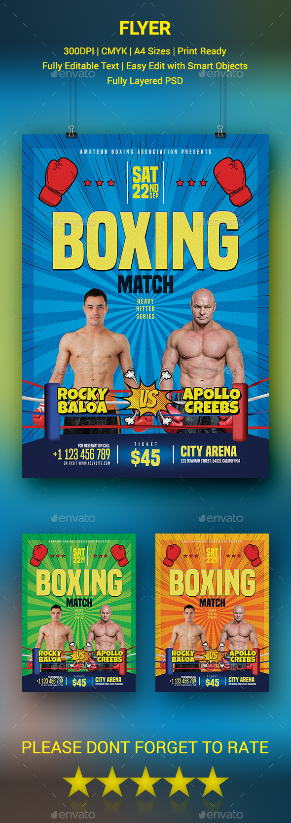 GraphicRiver Boxing Flyer 20591796