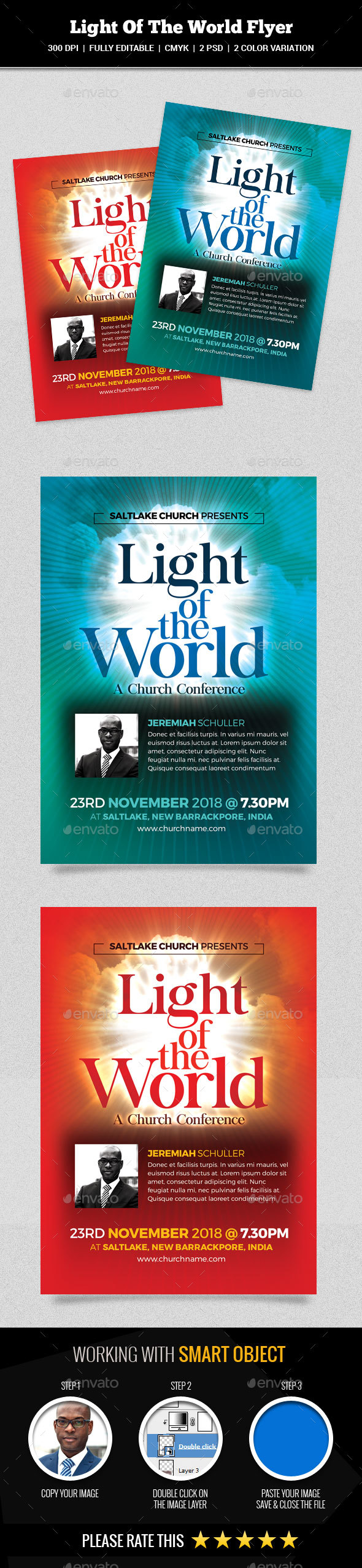 GraphicRiver Light Of The World Flyer 20591816