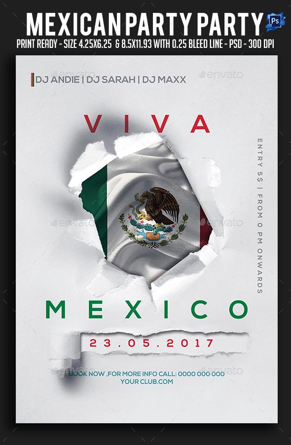 GraphicRiver Mexican Party Flyer 20591823